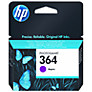 HP 364 Photosmart Ink Cartridge, Magenta, CB319EE