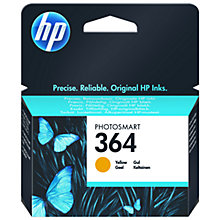 Buy HP 364 Photosmart Ink Cartridge, Yellow, CB320EE Online at johnlewis.com
