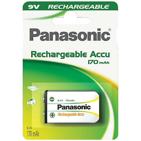 Buy Panasonic 9V Rechargeable Battery Online at johnlewis.com