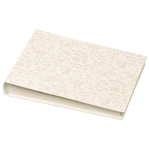 Buy John Lewis Lace Wedding Collection Guest Book Online at johnlewis.com