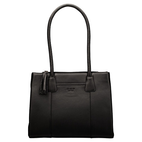 Buy O.S.P OSPREY Berlin Medium Leather Tote Handbag, Black Online at johnlewis.com
