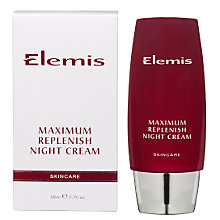 Buy Elemis Maximum Replenish Night Cream Online at johnlewis.com