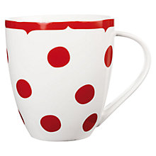 Buy Cath Kidston Crush Dotty Mug, Red Online at johnlewis.com