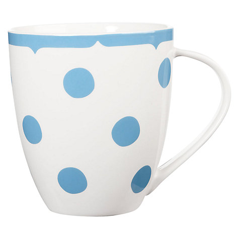 Buy Cath Kidston Crush Dotty Mug, Blue Online at johnlewis.com