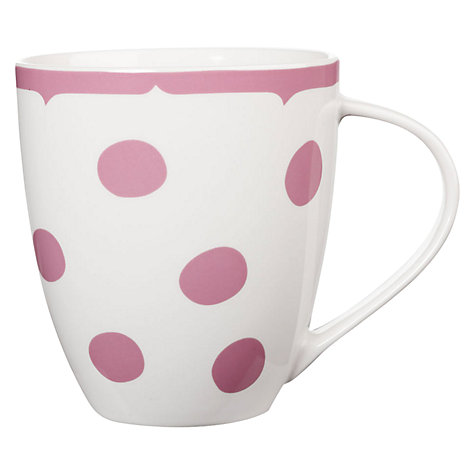 Buy Cath Kidston Crush Dotty Mug, Pink Online at johnlewis.com