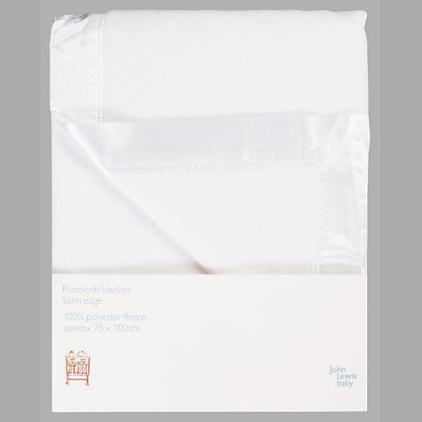 Buy John Lewis Pram/Crib Satin Edge Baby Blanket Online at johnlewis.com