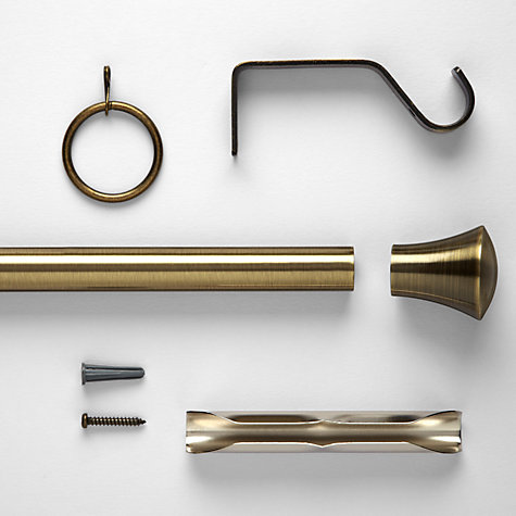 Buy John Lewis Aged Brass Pole Kits, Dia.19mm Online at johnlewis.com
