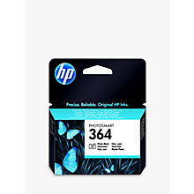 Buy HP 364 Photo Printer Cartridge, Photo Black, CB317EE Online at johnlewis.com