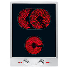 Buy Miele CS1122E Domino Ceramic Hob, Stainless Steel Online at johnlewis.com