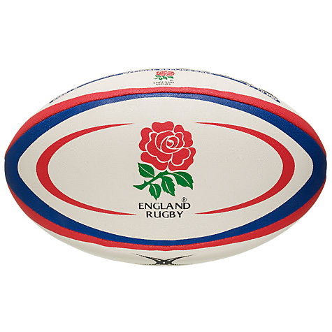 Buy Gilbert England Official Replica Rugby Ball, Size 5 Online at johnlewis.com
