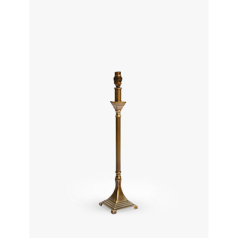 Buy John Lewis Ant Lamp Base, Antiqued Brass, Square Online at johnlewis.com