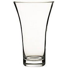 Buy John Lewis Flora Flared Vase, Clear, H26cm Online at johnlewis.com