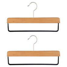 Buy John Lewis Drop Bar Hanger, Pack of 2, Beech Online at johnlewis.com