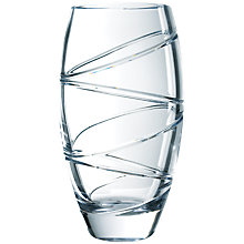 Buy Waterford Crystal Jasper Conran Aura Barrel Vase, 35.5cm Online at johnlewis.com