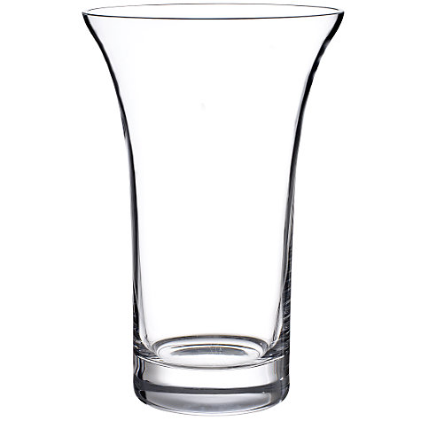 Buy John Lewis Flora Flared Vase, Clear, H22cm Online at johnlewis.com