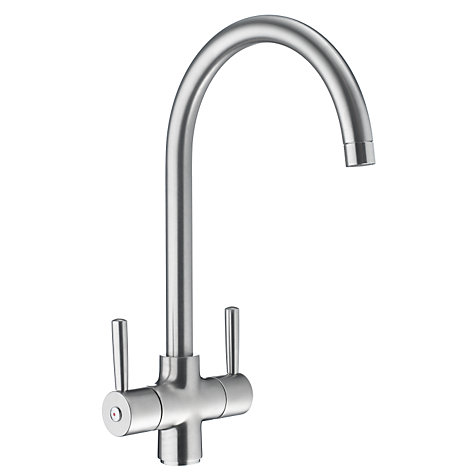 Buy John Lewis Tap, Curve, Brushed Steel Online at johnlewis.com