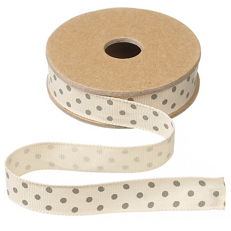 Buy East of India Spotty Ribbon, Cream, 3m Online at johnlewis.com