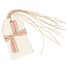 Buy East of India Gift Tags, Cream, Set of 6 Online at johnlewis.com