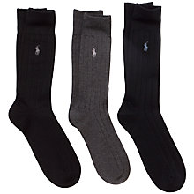 Buy Polo Ralph Lauren Dress Socks, Pack of 3, One Size, Multi Online at johnlewis.com