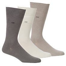 Buy Calvin Klein Dress Socks, Pack of 3, Brown, One size Online at johnlewis.com