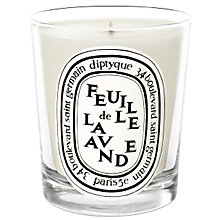 Buy Diptyque Feuille de Lavande Scented Candle, 190g Online at johnlewis.com