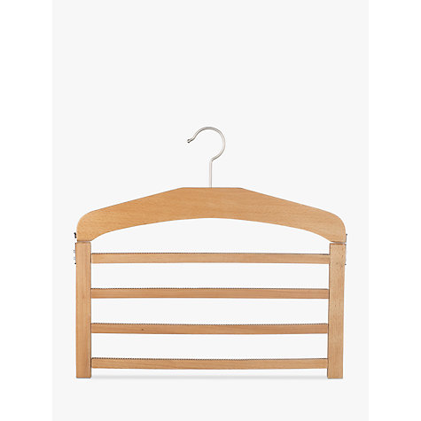 Buy John Lewis 4 Bar Trouser Hanger, Beech Online at johnlewis.com