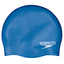 Buy Speedo Plain Silicone Swim Cap, Junior, Royal Blue Online at johnlewis.com