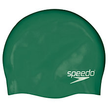 Buy Speedo Plain Silicone Swim Cap, Junior, Green Online at johnlewis.com