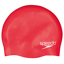 Buy Speedo Plain Silicone Swim Cap, Junior, Red Online at johnlewis.com