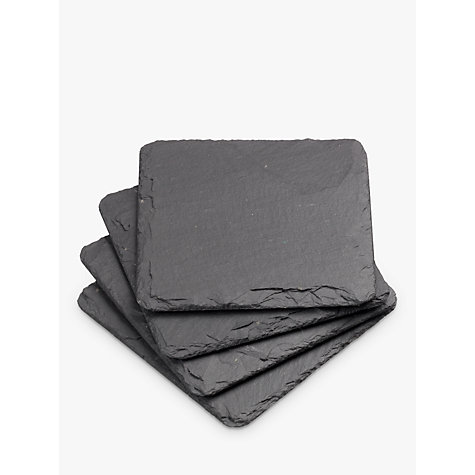 Buy Just Slate Coasters, Set of 4 Online at johnlewis.com