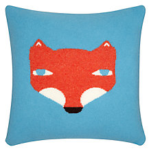 Buy Donna Wilson Fox Cushion, Blue Online at johnlewis.com