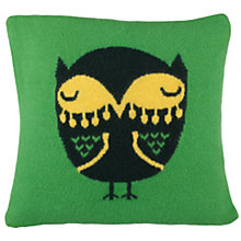 Buy Donna Wilson for John Lewis Owl Cushion, Green Online at johnlewis.com