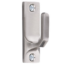 Buy John Lewis Rectangular Tieback Hooks, Chrome Online at johnlewis.com