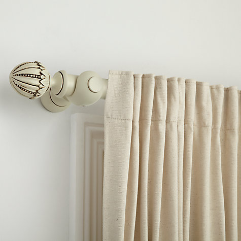 Buy John Lewis Antiqued Painted Wood Curtain Pole Kits, Dia.35mm, White Online at johnlewis.com