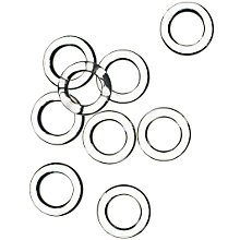 Buy Pretty Frills Clear Rings, Pack of 20 Online at johnlewis.com