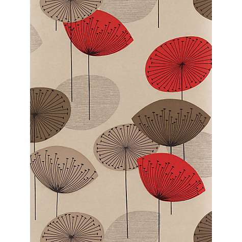 Buy Sanderson Dandelion Clocks Wallpaper, DOPWDA101, Red Online at johnlewis.com