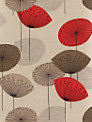 Sanderson Dandelion Clocks Wallpaper, DOPWDA101, Red