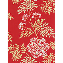 Buy Sanderson Cow Parsley Wallpaper, DOPWCO102, Scarlet Online at johnlewis.com