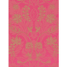 Buy Harlequin Wallpaper, Akira 25411, Fuchsia / Gold Online at johnlewis.com