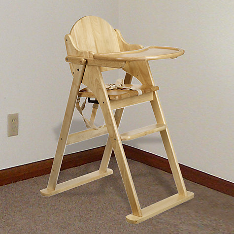 Buy East Coast Folding Wood Highchair Online at johnlewis.com