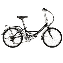 Buy Ridgeback Ambassador Folding Bike with Accessory Pack, Unisex, Black Online at johnlewis.com