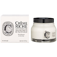 Buy Diptyque Creme Riche Body Butter, 200ml Online at johnlewis.com