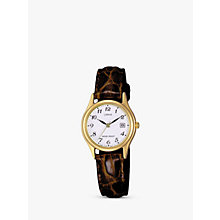 Buy Lorus RXT94AX9 Women's Leather Watch, Brown Online at johnlewis.com
