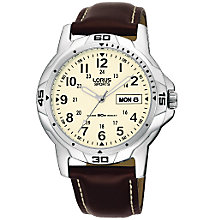 Buy Lorus RXN49BX9 Men's Leather Sports Watch, Brown Online at johnlewis.com