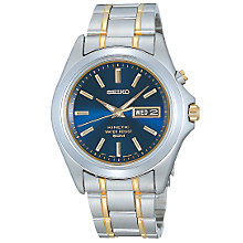 Buy Seiko SMY087 Men's Kinetic Bracelet Watch Online at johnlewis.com