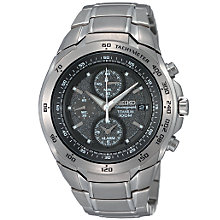 Buy Seiko SNAB91P1 Men's Titanium Chronograph Bracelet Watch Online at johnlewis.com