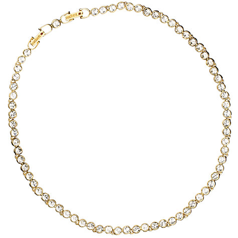 Buy Cachet London Gold Plated Crystal Tennis Necklace Online at johnlewis.com