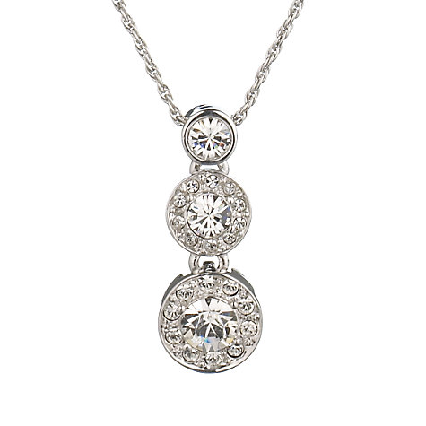 Buy Cachet London Rhodium and Swarovski Crystal Diablo Necklace Online at johnlewis.com