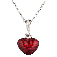 Buy Cachet London Rhodium Plated Heart Pendant, Red Online at johnlewis.com