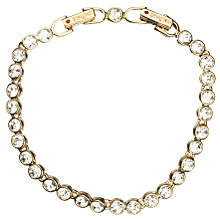 Buy Cachet London Gold Plated Crystal Tennis Bracelet Online at johnlewis.com